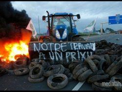 Petani Prancis Boikot Produk Pertanian Jerman dan Spanyol