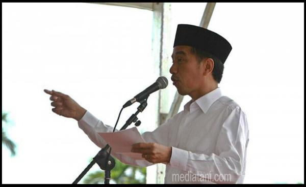 Presiden RI Joko Widodo Memberi Sambutan