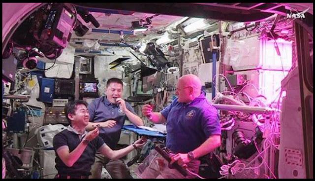 Tiga Astronot Ini Makan Hasil Pertanian di Luar Angkasa untuk Pertama Kali