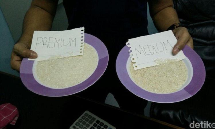 ilustrasi: perbedaan beras medium dan premium (source: detik.com)
