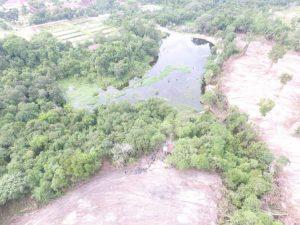 Land clearing kawasan yang mendekati areal greenbelt waduk arboretum