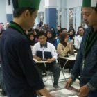 Serah terima berita acara pembukaan Diklat Nasional LPMI HMI Cab. Makassar Timur