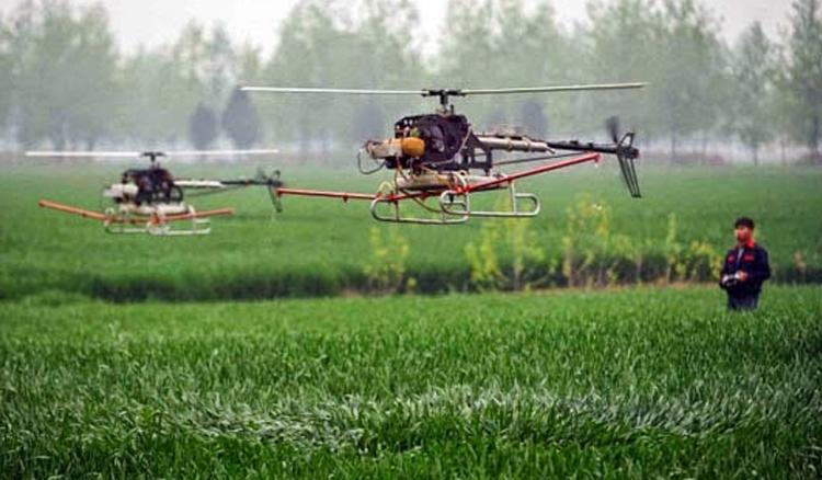inovasi drone sawah oleh Balai Penelitian Lingkungan Pertanian Kecamatan Jakenan, Kabupaten Pati, Jawa tengah