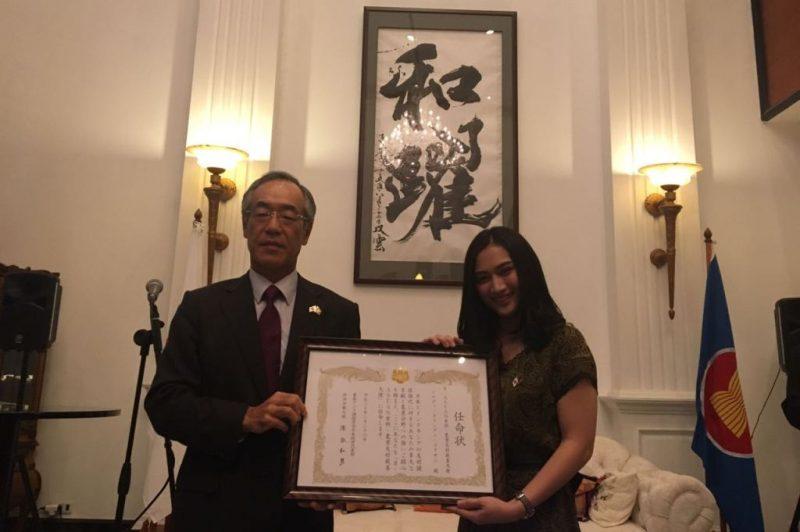 Melody Nurramdhani Laksani menjadi Duta Persahabatan Jepang-ASEAN di Bidang Pangan dan Pertanian (Foto: Sonya Michaella / Medcom.id)