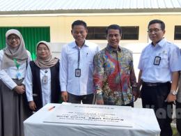 Menteri Pertanian, Andi Amran Sulaiman di peresmian Unit Perbanyakan Bibit Sumber (UPBS) di Balai Penelitian Ternak, Ciawi, Bogor, Rabu (15/5).