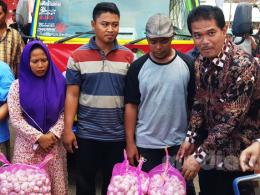 Direktur Jenderal Hortikultura, Kementan, Suwandi di Lokasi Operasi Pasar Provinsi Lampung (9/5/2019)