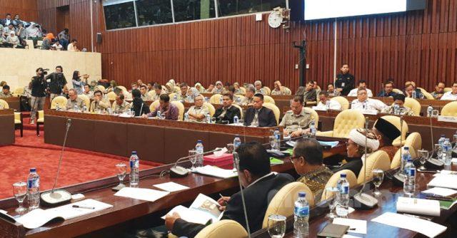 Suasana Rapat Kerja Komisi IV DPR RI bersama Kementerian Pertanian (Senin, 17/6/2019)
