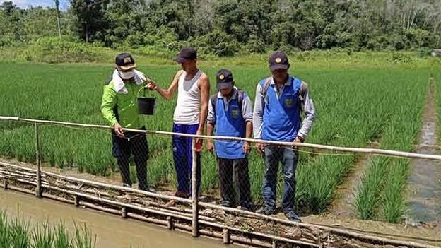 Ardiono bersama Kepala Dinas Pertanian Kabupaten Barito Timur (borneonews)