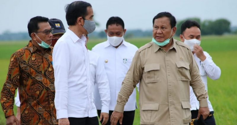 Foto: Presiden Joko Widodo beserta rombongan meninjau lokasi pembangunan Food Estate, Kamis (9/7/2020).