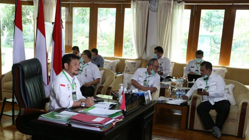 Mentan SYL saat memimpin rapat koordinasi kostraling Rabu (22/7/2020)