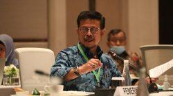 Mentan, Syahrul Yasin Limpo berbicara dalam kegiatan Focus Grou Discussion (FGD) bersama Komisi IV DPR