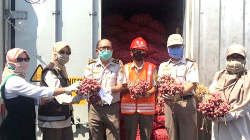 Pelepasan Ekspor 52,4 Ton Bawang Merah Asal Probolinggo Ke Thailand (Foto: RMOLJateng)