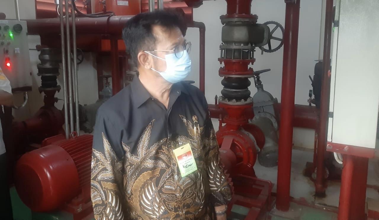 Mentan SYL Cek Fasilitas Gedung Kementan untuk Antisipasi Kebakaran dan Penyebaran Covid 19