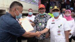 Pelepasan ekspor bawang putih di Kabupaten Brebes, Jawa Tengah (Jateng), Rabu (12/8).