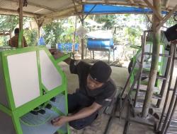 Pemuda Ciamis Bikin Mesin Perontok Padi Minimalis Untuk Ringankan Kerja Petani