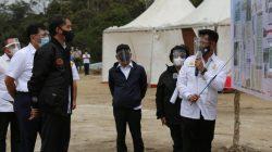Mentan SYL saat mendampingi Presiden Jokowi meninjau proyek food estate di Humbang Hasundutan, Selasa,