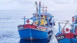 Kapal ikan Malaysia di Selat Malaka, Minggu (8/11/2020).