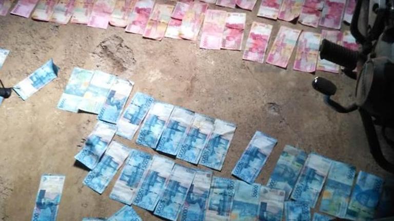 Uang yang ditemukan petani