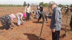 kegiatan pencanangan tanam padi gogo di Desa Ciparungsari, Kecamatan Cibatu, Rabu, (4/11/2020).