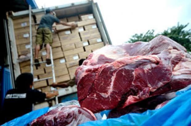 ilustrasi daging sapi impor/bisnis tempo/IST