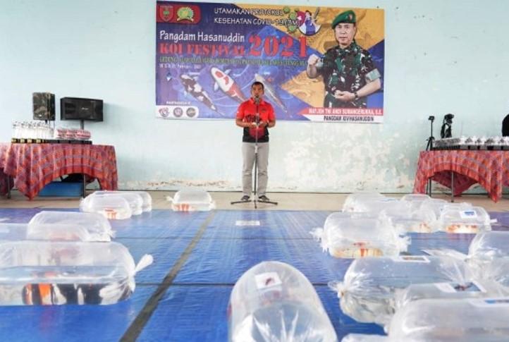 Festival koi yang diselenggarakan Kodam XIV Hasanuddin