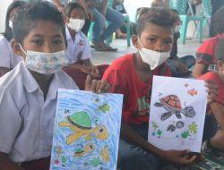 Bukan Hanya Nelayan, Anak Usia Dini Juga Diberikan Edukasi Perlindungan Penyu