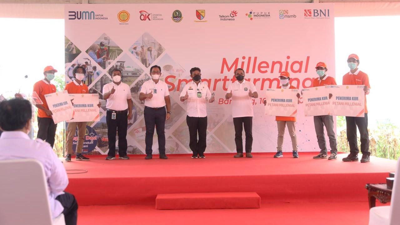 Penandatanganan Kerjasama Multipihak dalam Program Millenial Smartfarming, Bandung 10/3/2021