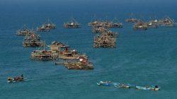 Bagan nelayan di Pangandaran