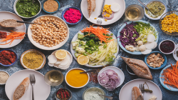 ilustrasi bahan makanan sehat