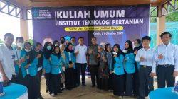 Kuliah Umum Institut Teknologi Pertanian di Desa Campagaya Kec. Galut Kab. Takalar, Kamis (21/10/2021).